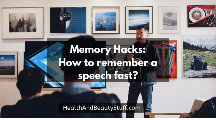 how to remember speech fast