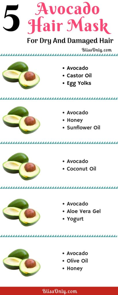 5 avocado hairs masks for dry and damaged hair