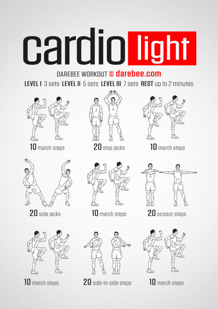cardio light workout infographic