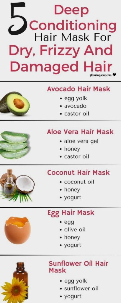 deep conditioning hairs masks for damaged hair