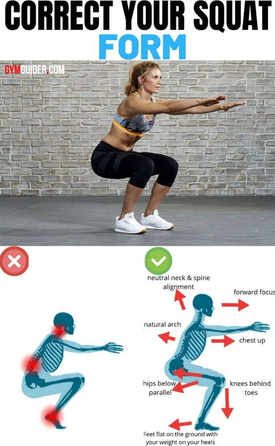 how to squat - correct position