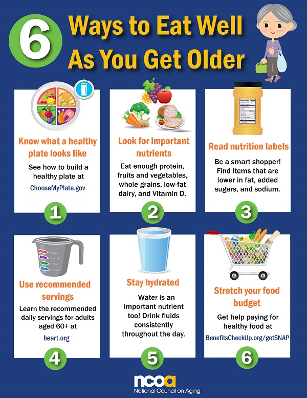6 ways to eat well for seniors